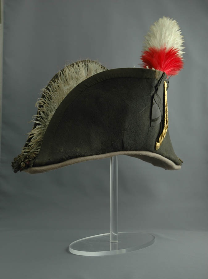 General Brock ordered this hat but it did not reach Canada until after Brock's death. During the general's funerals in 1824 and 1853, the hat was placed on the coffins. Courtesy of Niagara Historic Society & Museum