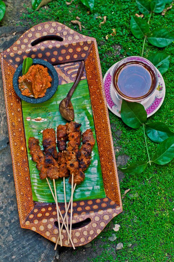 Another Sate from East Java, Indonesia.  Sate Komoh (Spiced Beef Satay)
