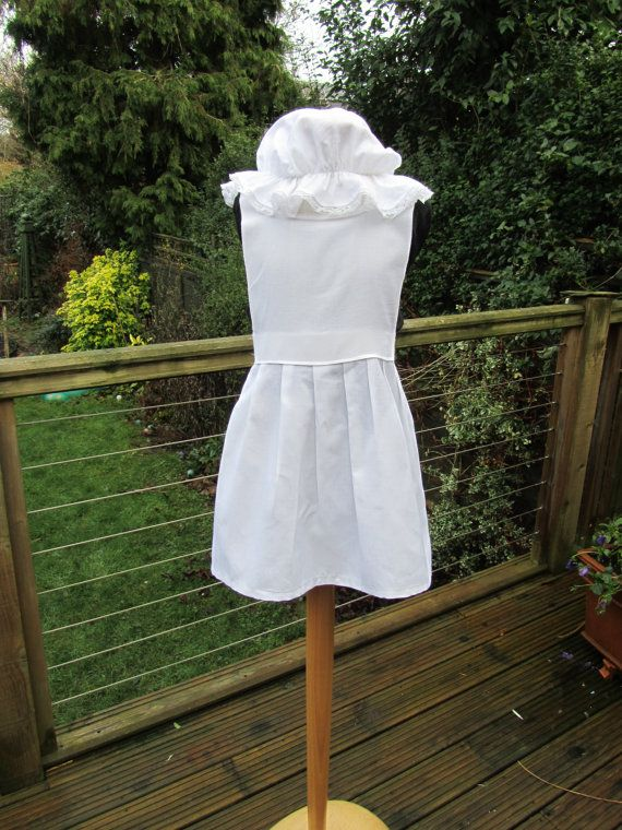 Child's Victorian apron and mob cap Alice in by knittedswimsuit