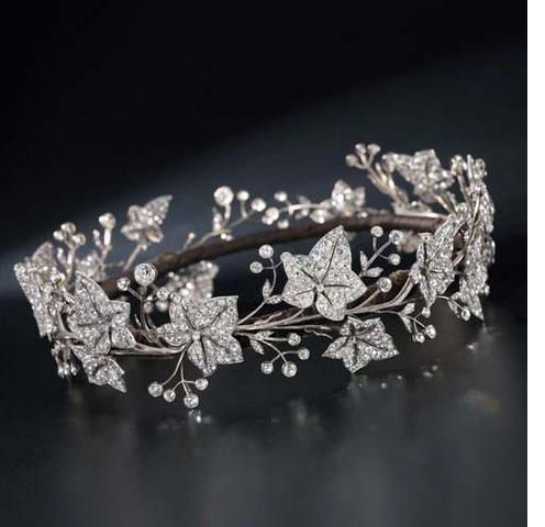 A fine 19th century diamond tiara, by Garrard & Co. In the 19th century the language of flowers was widely understood in artistic circles, and ivy had a number of symbolic meanings including 'friendship in adversity', constancy and lifelong love. It is probable that this tiara was made to be worn by a bride as a symbol of eternal love.