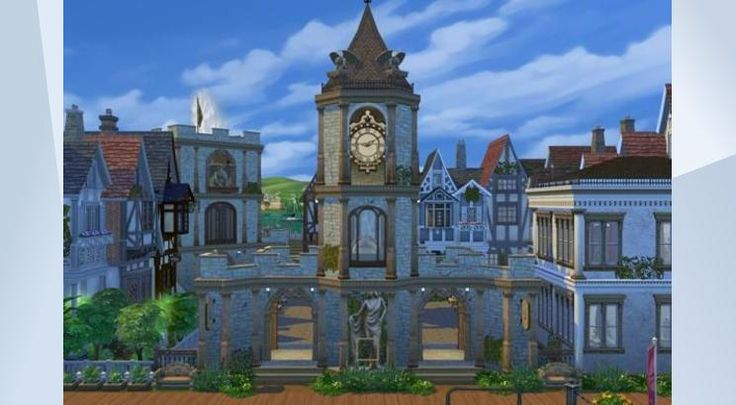 Взгляните на этот участок в Галерее The Sims 4! - Here you can buy almost everything you missed in your collections! Souvenirs, handmade furniture, arts, geo museum and much more! Also visit our restaurant, rare plant farm and even try to catch some fish in underground grotto! Made by Oloriell (http://lorisims.net) #old #square #market #shop #collection #noCC #classical #castle #tudor #victorian #oloriell #lorisims #lori