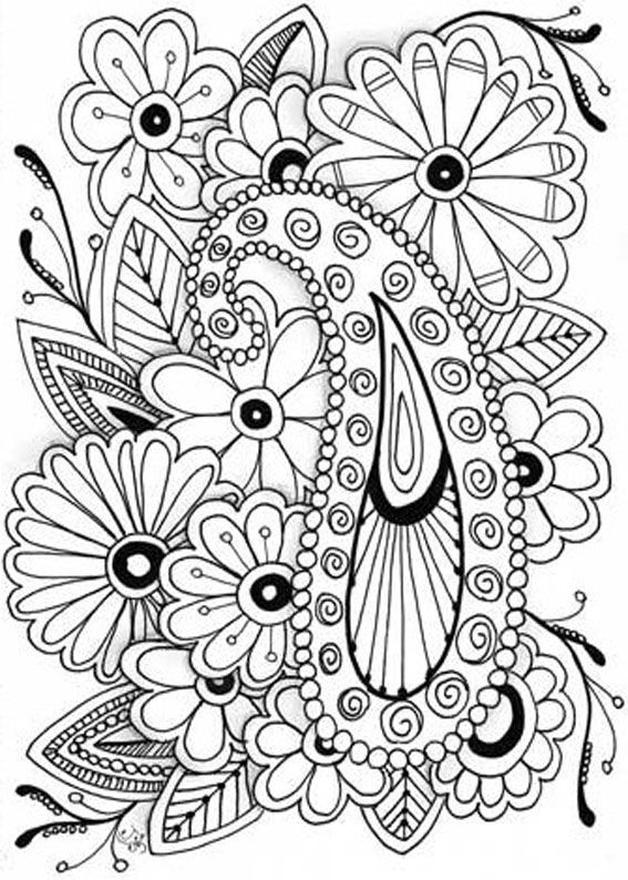 Printable Coloring Pages For Adults --> For the best adult coloring books and writing utensils including gel pens, watercolors, drawing markers and colored pencils, check out our website at http://ColoringToolkit.com. Color... Relax... Chill.