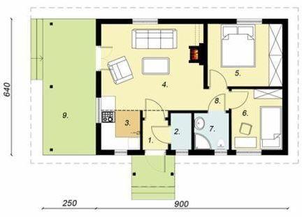 Plano De Casa 6x9 Planos De Casas Planos De Casas Pequeñas Casas Pequeñas