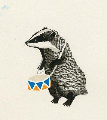 Badger illustration by Maria Midttun