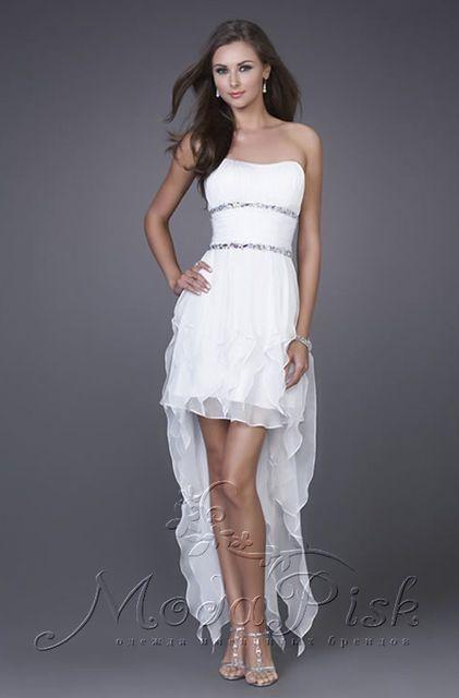 Коктейльное короткое платье для выпускного бала, фото 4