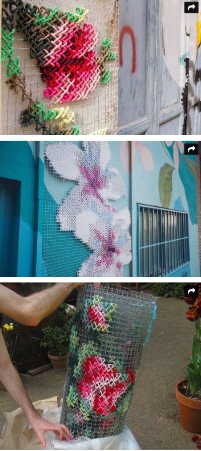 Украшение стен своими руками... Гигантская вышивка . Декор стены