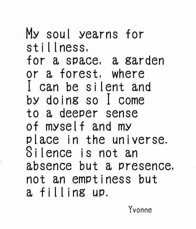 //Silence ... #words