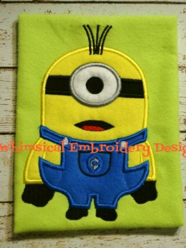 Minion One Eye Applique Machine Embroidery Design INSTANT DOWNLOAD
