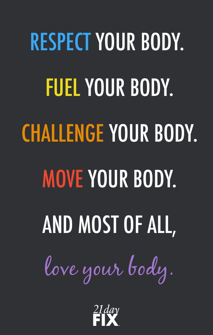 Respect your body enough to give it the LOVE it deserves! fitspo // motivation // exercise // fitness // 21 Day Fix // workout // inspiration // quote // quotes // love // health // wellness // fitspirationSagine☀️