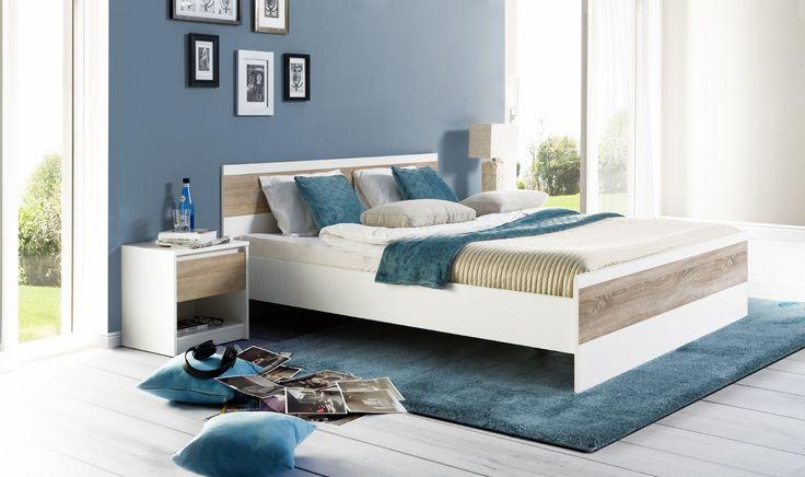 Nowoczesna sypialnia, stworzona z minimalistycznych brył charakteryzujących się prostą formą. #sypialnia #bedroom #meble #furniture #odpoczynek #relaks #relax #inspiracja