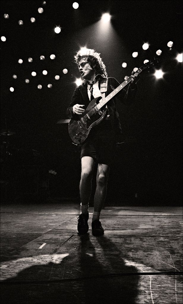 Angus Young - founder of AC DC