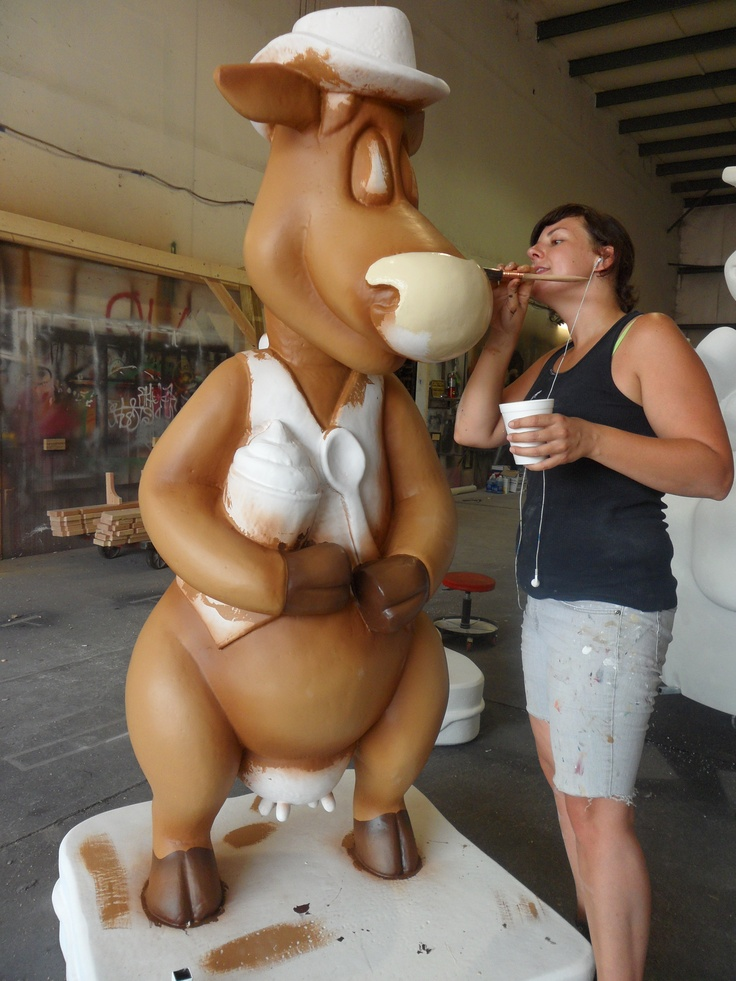 Starting to paint our Dairy Cows for the 2012 IN State Fair!States Fair, State Fair