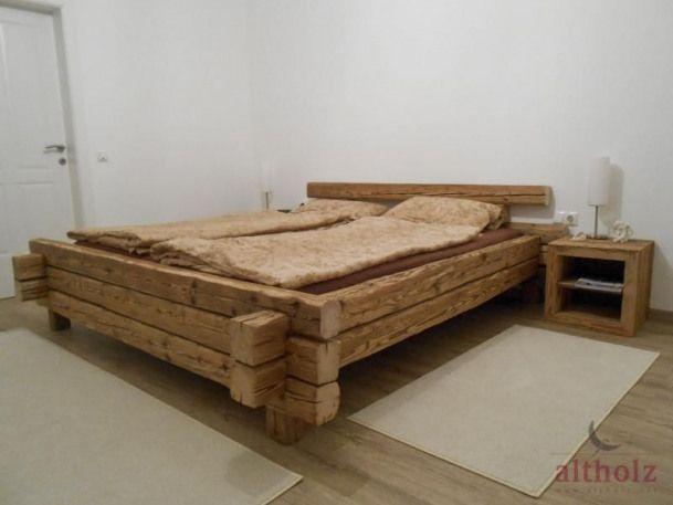 Bildergebnis Fur Bett Aus Holzbalken Selber Bauen Woodworking