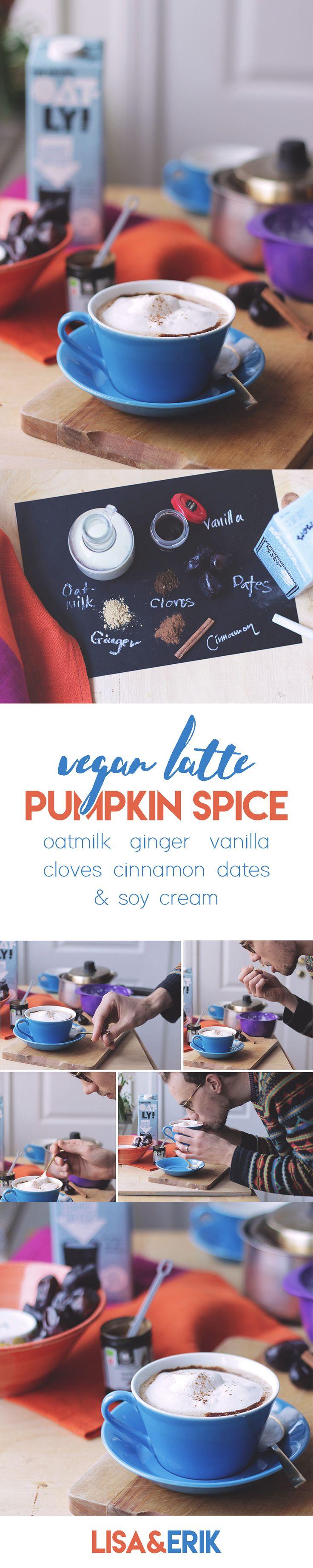 Vegan Pumpkin Spice Latte Recipe - Healthy sweetend with Dates