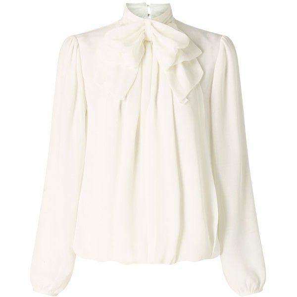 Silk White Blouse Long Sleeve