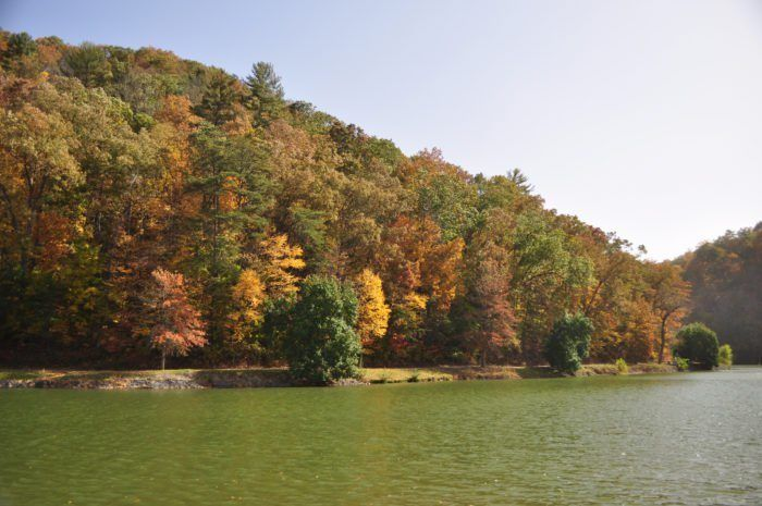 Steele Creek Park is located in Bristol, Tennessee, and it's one of the most beautiful hidden gems in the state. Wander the premises if you're looking for a beautiful hike or a picnic, or simply to just enjoy the crisp autumn air.