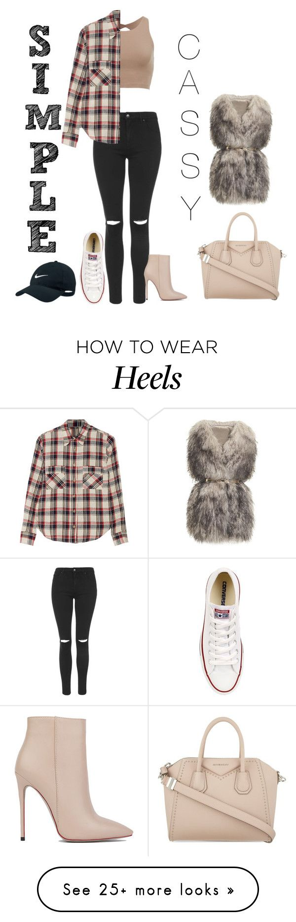 """Heels or casual #3"" by matildaemonet on Polyvore featuring Topshop, Akira Black Label, Étoile Isabel Marant, Converse, Givenchy, PINGHE and NIKE"