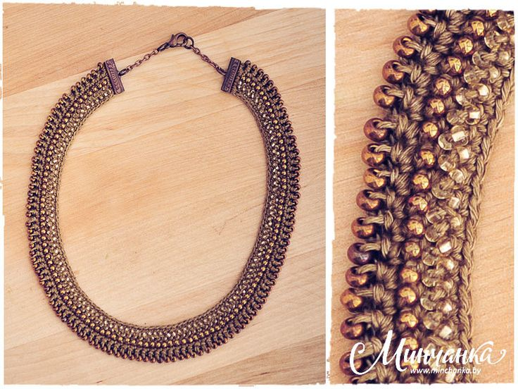 Julia Kolbaskina beaded crochet necklace design.