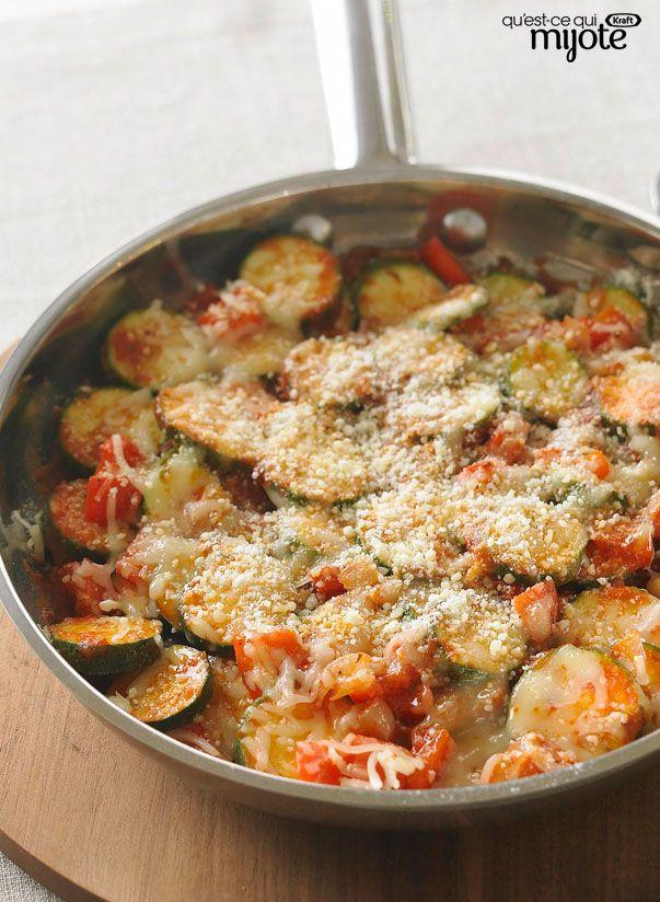 Poêlée de courgettes au parmesan #recette