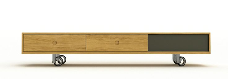 solid oak TV cabinet by cubica