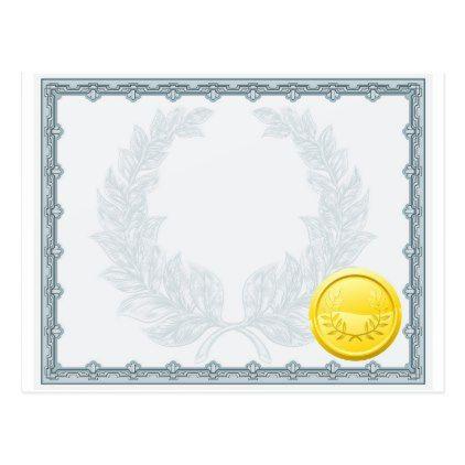 #template - #Certificate Diploma Background Template Postcard