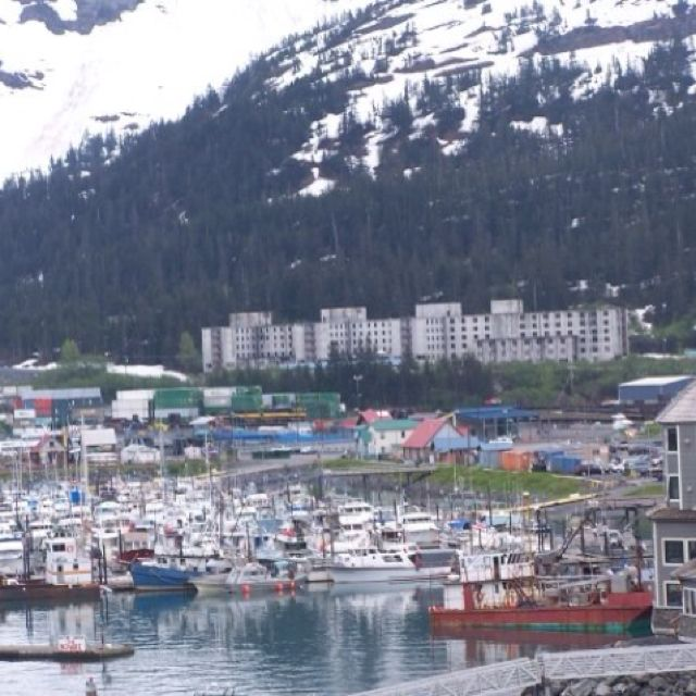 Whittier, Alaska - disembarked here, before getting on the train to Denali National Park