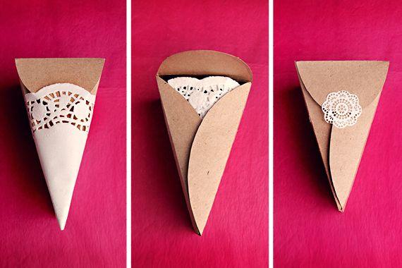 Wedding Friends DIY Triangular Favor Boxes