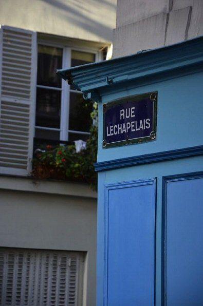 La rue Lechapelais  (Paris 17ème)