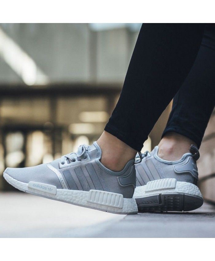 big sale 81607 a36cf Adidas NMD R1 Matte Silver Wolf Grey Shoes