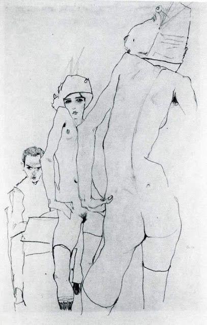 """Odważne i liryczne opowieści o ciele. Rozdygotane emocjami akty autorstwa Egona Schielego połączyłam z wybranymi scenami erotycznymi z """"Odcieni czerwieni"""". Życzę Wam gorącej lektury :)"""