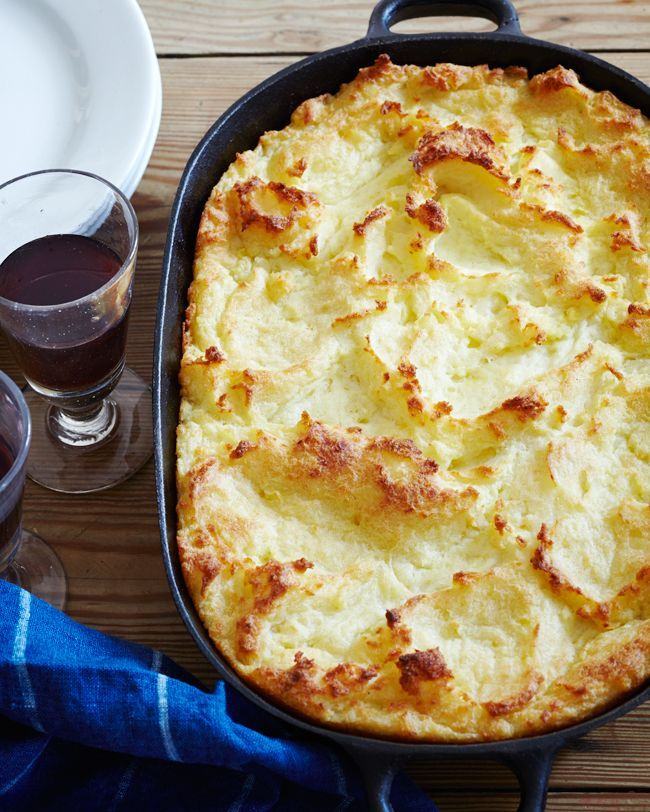 Twice Baked Mashed Potatoes - Twice baked - never shy! At least not in the world of butter and cream.