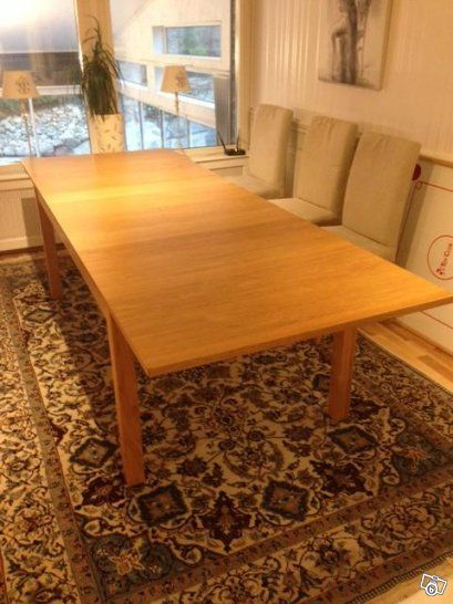 IKEA Bjursta matbord / köksbord ek fanér