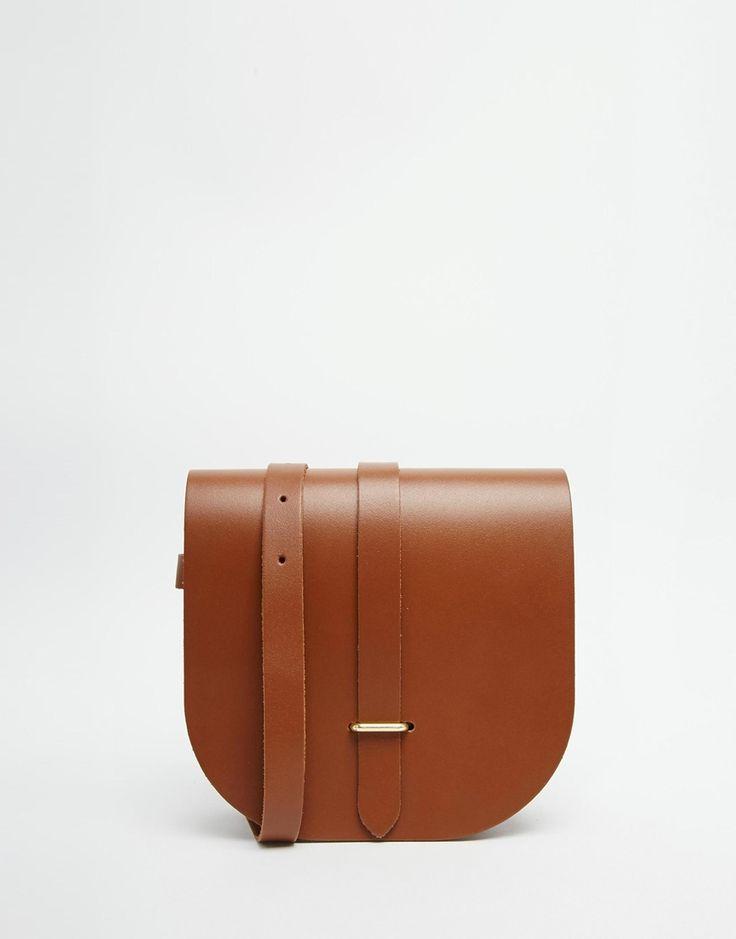 Image 1 ofThe Cambridge Satchel Company Leather Saddle Bag in Vintage Tan