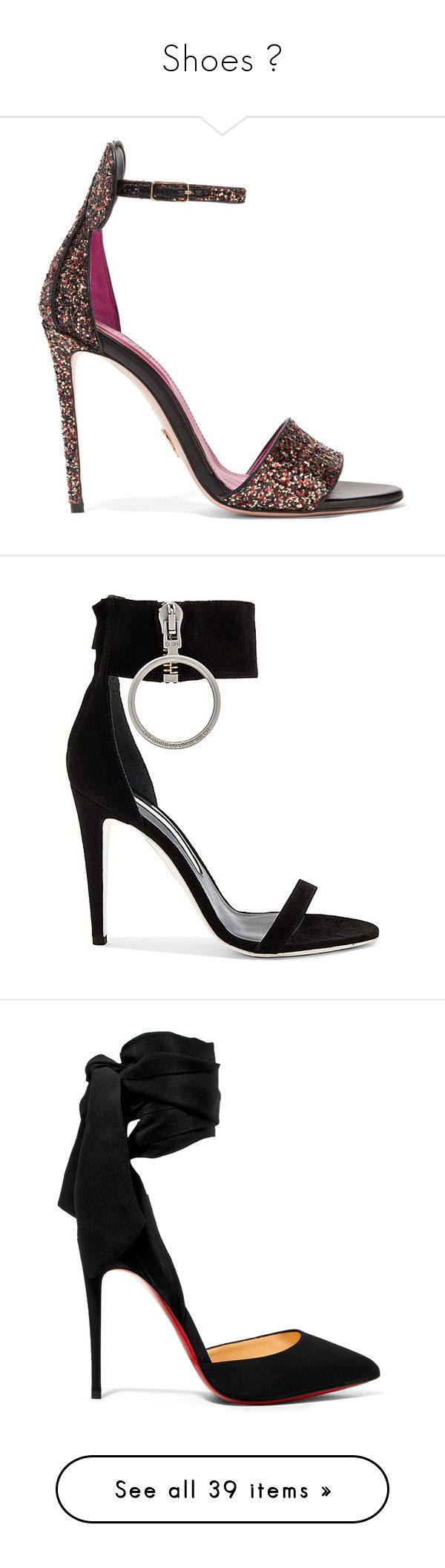 """Shoes 👠"" by gltnmert ❤ liked on Polyvore featuring shoes, sandals, heels, sapato, footwear, black, black strappy sandals, strap heel sandals, heeled sandals and black sandals"