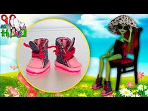Jak Udělat Boty Tenisky Panenky Monster High, Barbie Muza Rukodeliya - YouTube