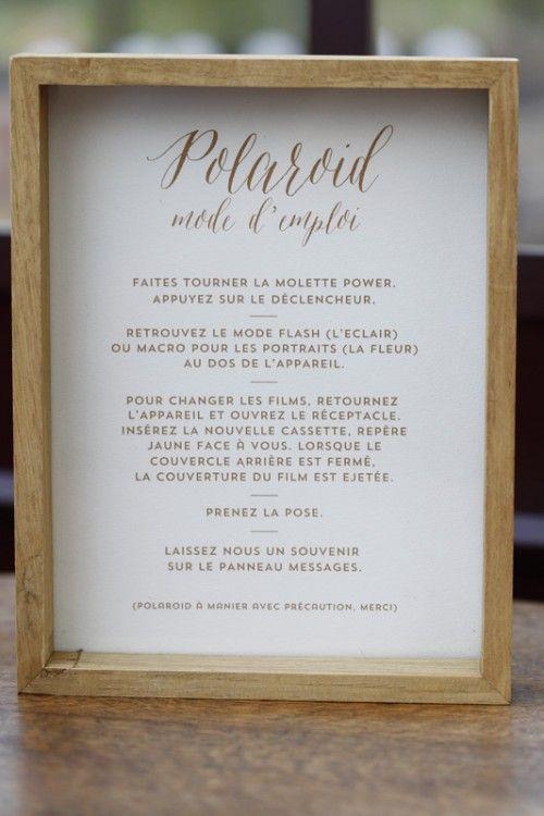 Animation mariage Polaroid