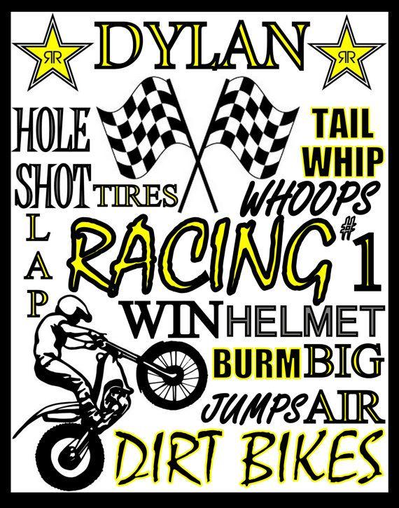 custom dirt bike racing poster dirt bike by PinksPerfections