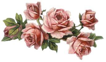 Vintage Rose Flower Spray Printables