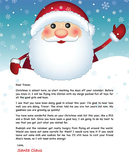 Best 25+ Christmas letter from santa ideas on Pinterest - christmas letter templates
