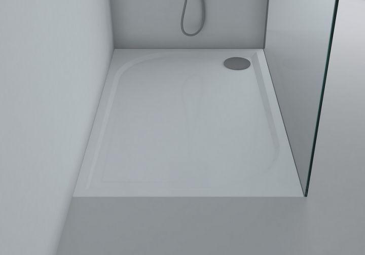 hochqualitative duschwanne klara aus mineralguss rechteckig massiv in farbe wei duschwannen. Black Bedroom Furniture Sets. Home Design Ideas