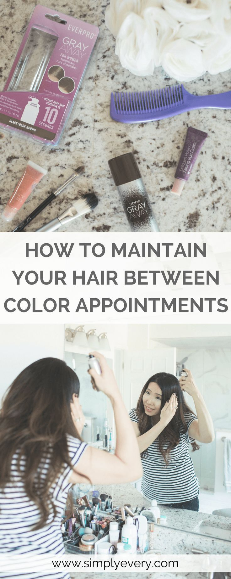 How to Maintain Your Hair Between Color Treatments, #haircare, #beautytips, #coloredhair, beauty, hair care, easy hair for busy moms, beauty hacks, self care