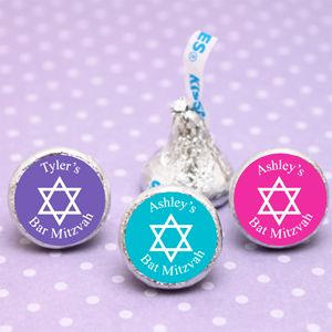 Personalized Bar or Bat Mitzvah Hershey's Kiss - 100 pcs