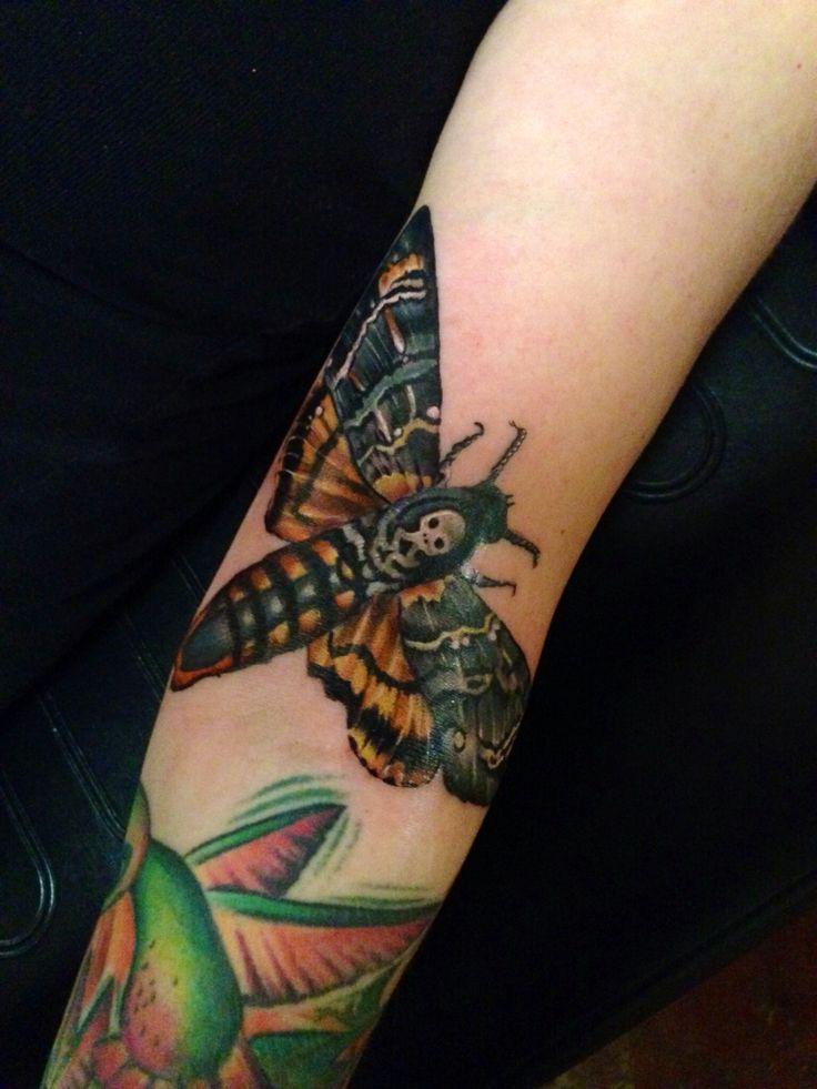 Death head moth by Cara Massacre www.tattoosbycara.com