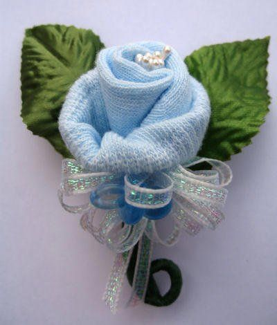 baby shower corsage ideas | or even for all you baby shower guests our mini baby sock corsage ...