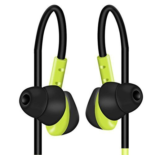DaySeventh Waterproof Earphones In Ear Earbuds HIFI Sport Headphones Bass Headset With Mic Green >>> You can find out more details at the link of the image.