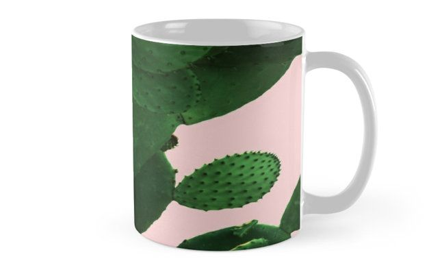 Buy Any 2 & Get 15% OFF!  Cactus On Pink Mug by ARTbyJWP from Redbubble #mug #coffeemug #mugs #cactus #greenandpink --    Close-up of a big cactus on a pink background. • Also buy this artwork on home decor, apparel, stickers, and more.