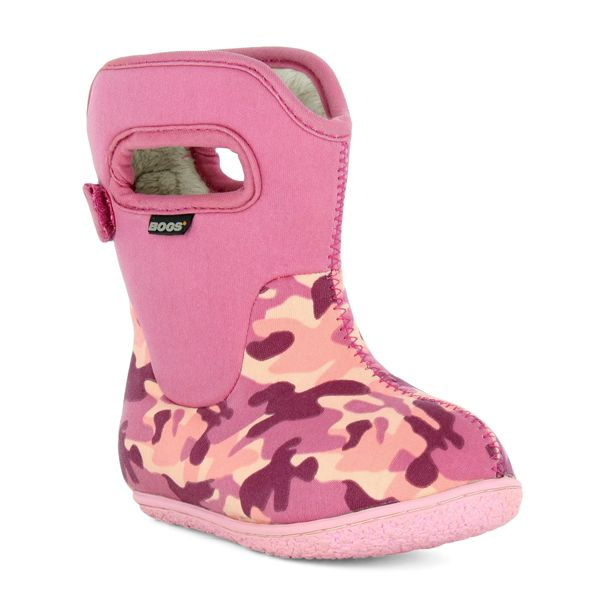 Bogs Baby Camo Pink Waterproof & Washable Boots