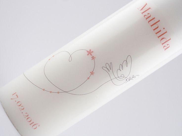 Taufkerzen - Taufkerze Mädchen Rosa - ein Designerstück von Deine_Taufkerze bei DaWanda