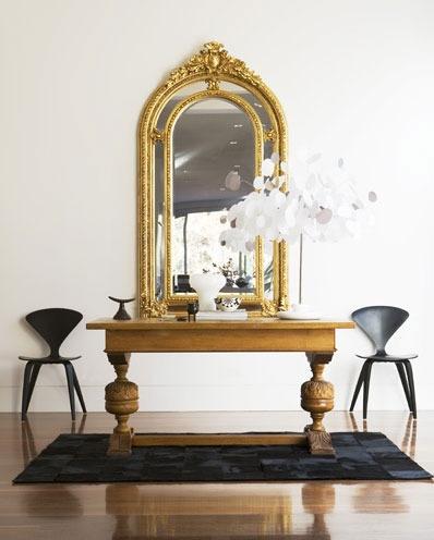 beautiful mirror cherner chairs
