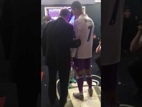 After firing Real Madrid to an emphatic 4-1 win over Juventus in the Champions League final, Cristiano Ronaldo met up with his former Manchester United manager Sir Alex Ferguson and there were some touching scenes